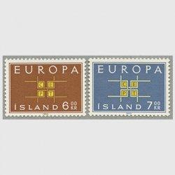 アイスランド 1963年ヨーロッパ切手2種