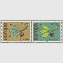 アイスランド 1965年ヨーロッパ切手2種