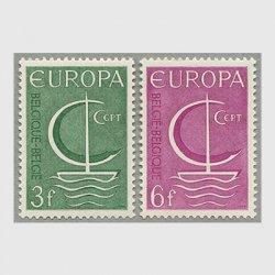 ベルギー 1966年ヨーロッパ切手2種