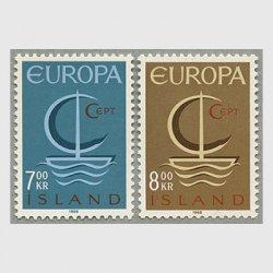 アイスランド 1966年ヨーロッパ切手2種