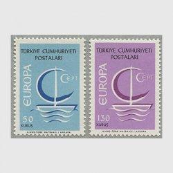 トルコ 1966年ヨーロッパ切手2種