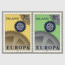 アイスランド 1967年ヨーロッパ切手2種