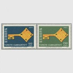 トルコ 1968年ヨーロッパ切手2種