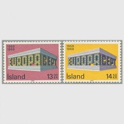 アイスランド 1969年ヨーロッパ切手2種