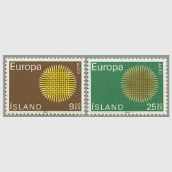 アイスランド 1970年ヨーロッパ切手2種