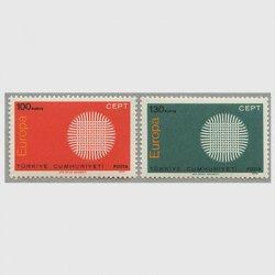 トルコ 1970年ヨーロッパ切手2種