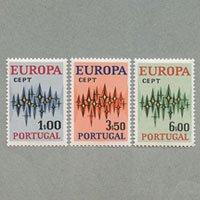 ポルトガル 1972年ヨーロッパ切手3種