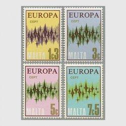 マルタ 1972年ヨーロッパ切手4種