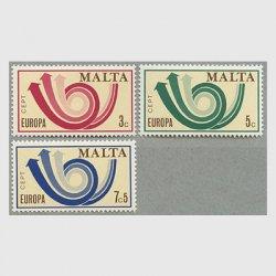 マルタ 1973年ヨーロッパ切手3種