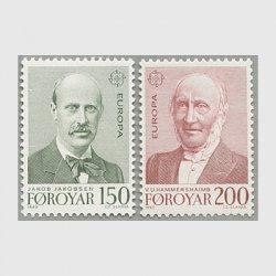 フェロー諸島 1980年ヨーロッパ切手2種