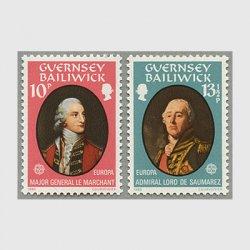 ガーンジー 1980年ヨーロッパ切手2種