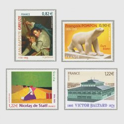 フランス 2005年美術切手4種