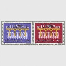 サンマリノ 1984年ヨーロッパ切手2種