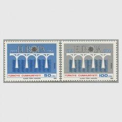 トルコ 1984年ヨーロッパ切手2種