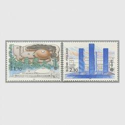フィンランド 1987年ヨーロッパ切手2種