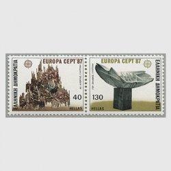 ギリシャ 1987年ヨーロッパ切手2種連刷