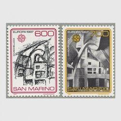サンマリノ 1987年ヨーロッパ切手2種