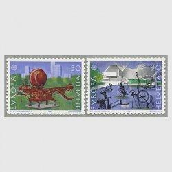 スイス 1987年ヨーロッパ切手2種