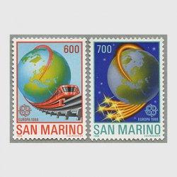 サンマリノ 1988年ヨーロッパ切手2種