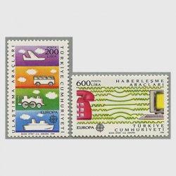 トルコ 1988年ヨーロッパ切手2種