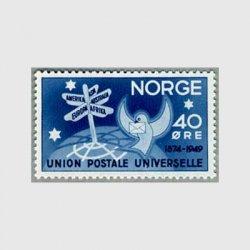 ノルウェー 1949年UPU75年道しるべとハト