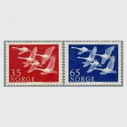 ノルウェー 1956年オオハクチョウ2種