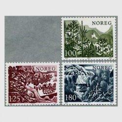 ノルウェー 1977年樹木3種
