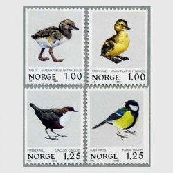 ノルウェー 1980年ミヤコドリなど4種