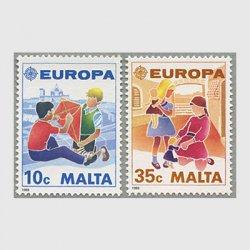 マルタ 1989年ヨーロッパ切手2種