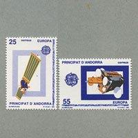 アンドラ(西管轄) 1991年ヨーロッパ切手2種