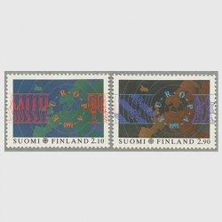 フィンランド 1991年ヨーロッパ切手2種