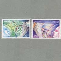 アイスランド 1991年ヨーロッパ切手2種
