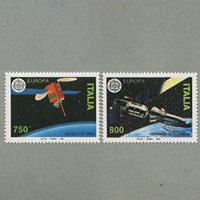 イタリア 1991年ヨーロッパ切手2種