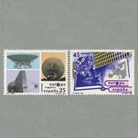 スペイン 1991年ヨーロッパ切手2種