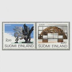 フィンランド 1993年ヨーロッパ切手2種