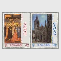 バチカン 1993年ヨーロッパ切手2種