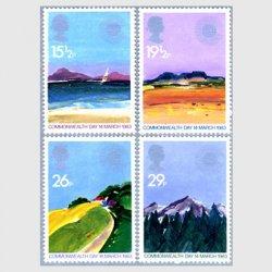 イギリス 1983年英連邦の日4種