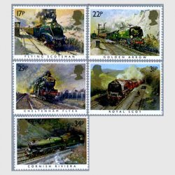 イギリス 1985年蒸気機関車5種