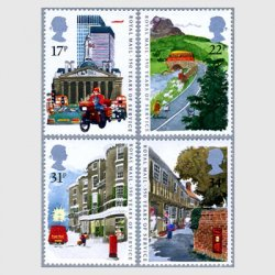 イギリス 1985年郵便350年4種