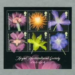 イギリス 2004年園芸協会200年小型シート