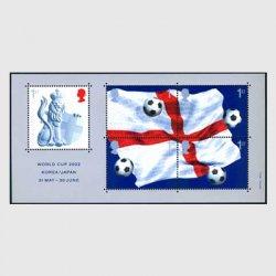 イギリス 2002年W杯サッカー小型シート