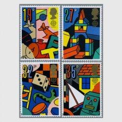 イギリス 1989年ヨーロッパ切手おもちゃ4種