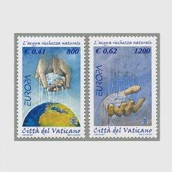バチカン 2001年ヨーロッパ切手2種