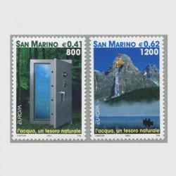 サンマリノ 2001年ヨーロッパ切手2種