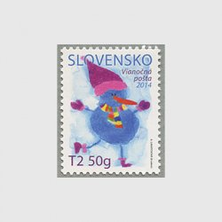 スロベニア 2014年クリスマス 雪だるま
