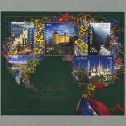 ウクライナ 2004年ヨーロッパ切手小型シート