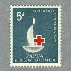 パプアニューギニア 1963年赤十字100年