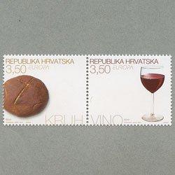 クロアチア 2005年ヨーロッパ切手2種