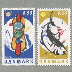 デンマーク 2005年ヨーロッパ切手2種