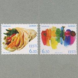 エストニア 2005年ヨーロッパ切手2種